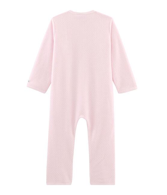 Girls' Fleece Jumpsuit Vienne pink / Mistigri grey