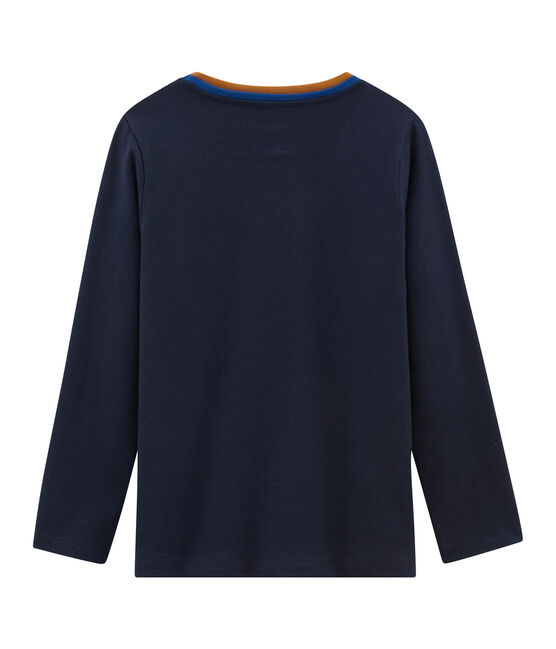 Boys' Long-sleeved T-Shirt Smoking blue