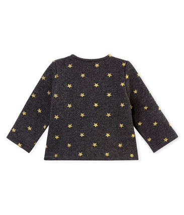 Baby girl's gold star print cardigan