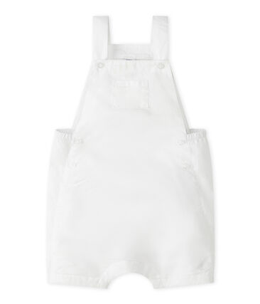 Baby Boys' Cropped Linen Dungarees Marshmallow white