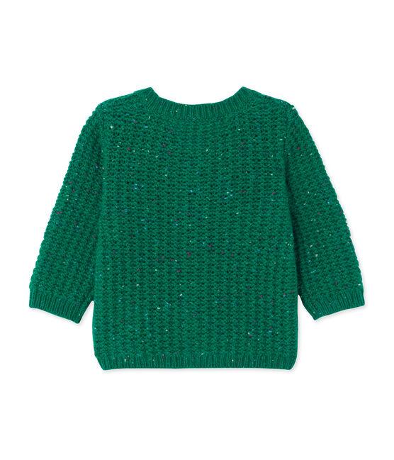 Baby girl's wool blend cardigan Gazon green