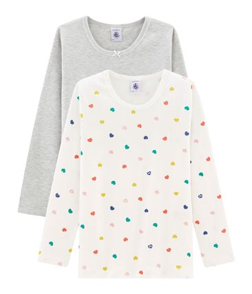 Girls' Long-sleeved T-Shirt - Set of 2