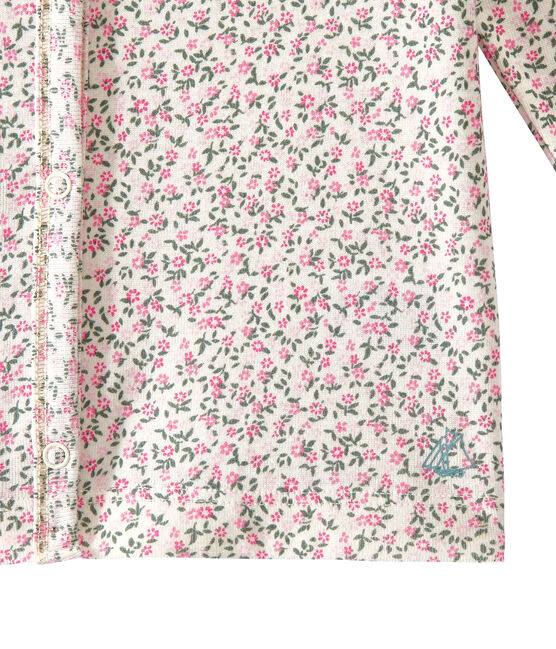 Girl's print cardigan Marshmallow white / Multico white