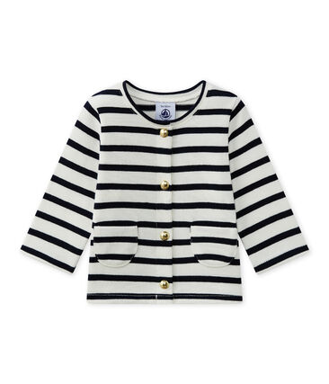 Baby girl's striped cardigan