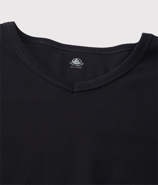 Men's short-sleeved V-neck T-shirt Noir black
