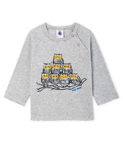 Baby Boys' Long-Sleeved Pinstriped T-Shirt