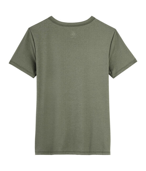 Women's Sea Island cotton T-shirt Litop green