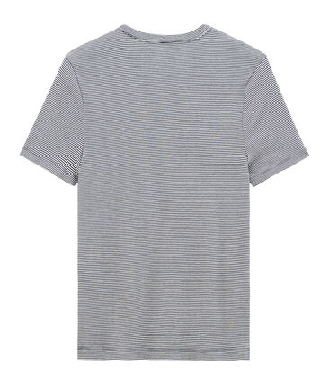 Men's Iconic Short-Sleeved Crew Neck T-Shirt Smoking blue / Marshmallow white