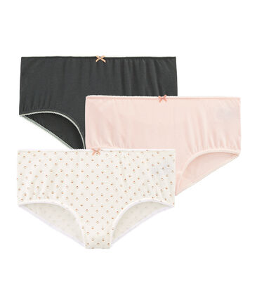 Girls' Stretch Cotton Boxers - Set of 3