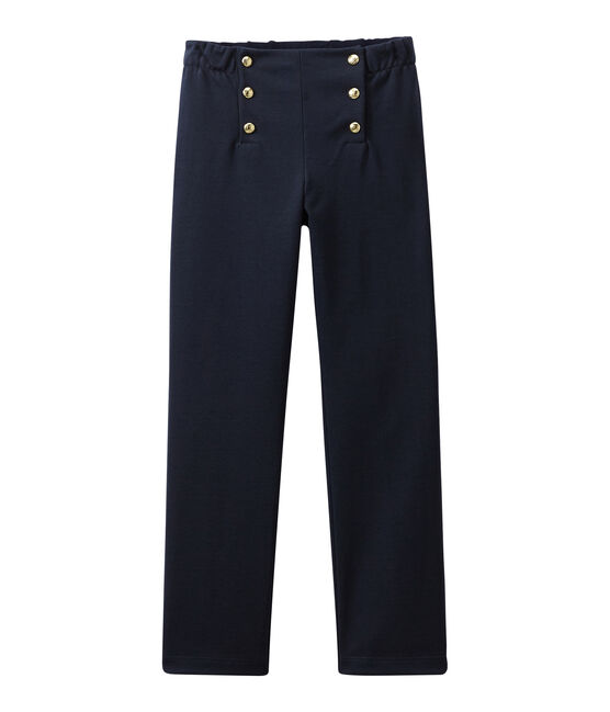 Girl's pants with flap Smoking blue