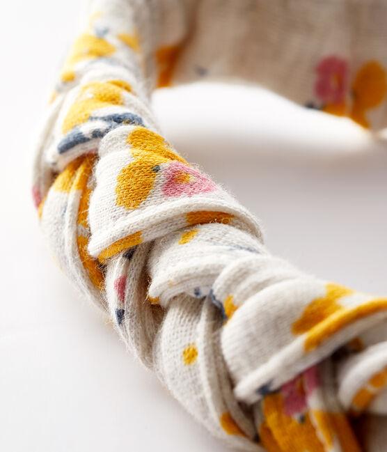 Baby girl's headband Montelimar beige / Multico white