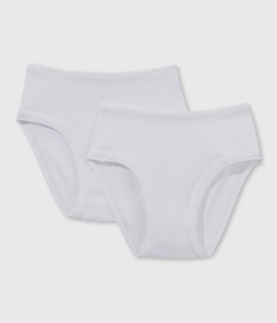 Girls' White Knickers - 2-Pack . set