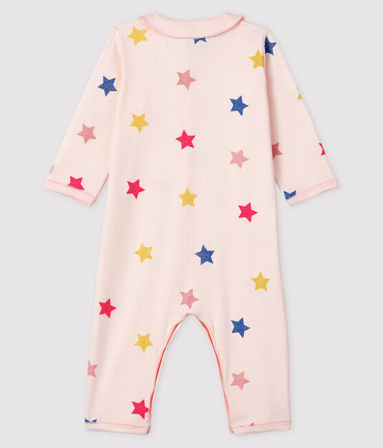 Baby Girls' Starry Footless Ribbed Sleepsuit Fleur pink / Multico white