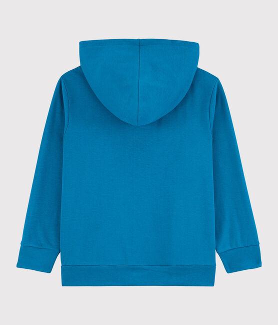 Boys' Cotton Zip-Up Hoody Mykonos blue