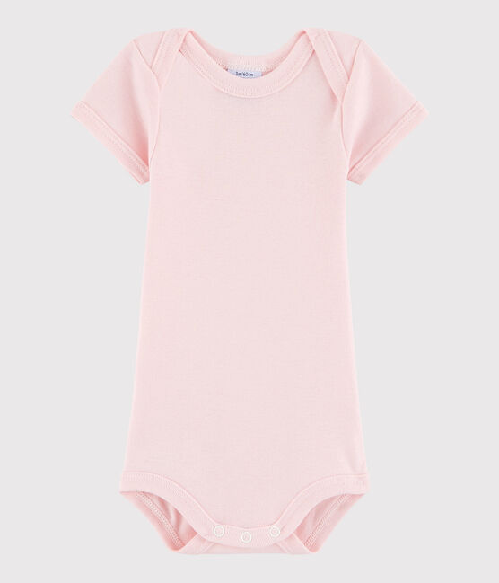 Baby Girls' Short-Sleeved Bodysuit Minois pink