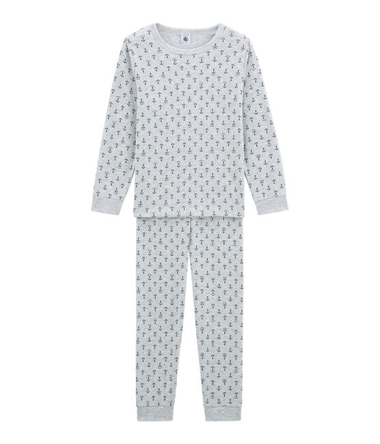 Little boy's pyjamas Poussiere grey / Medieval blue