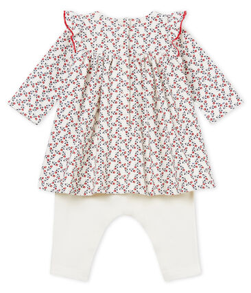 Baby girls' long-sleeved dress and leggings