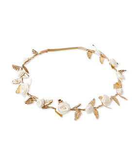 Flower crown for baby girls Dore Brillant brown