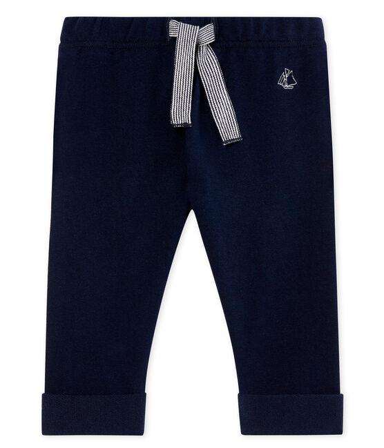 Baby boys' plain light fleece trousers SMOKING