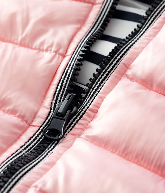 Baby's reversible puffer jacket Minois pink