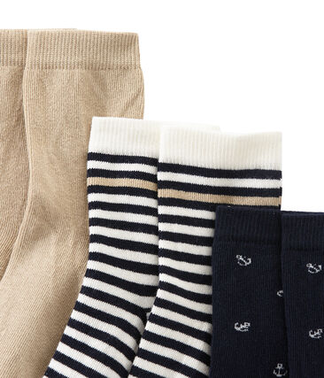 Set of 3 pairs of boy's socks