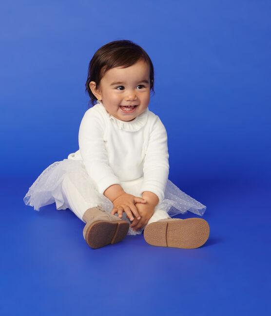 Baby girl's long-sleeved dress Marshmallow white