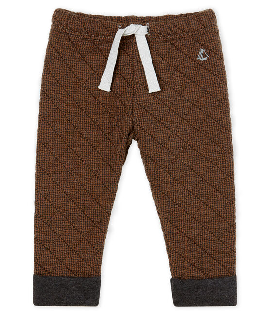 Baby Boys' Houndstooth Tube Knit Trousers City black / Cocoa brown
