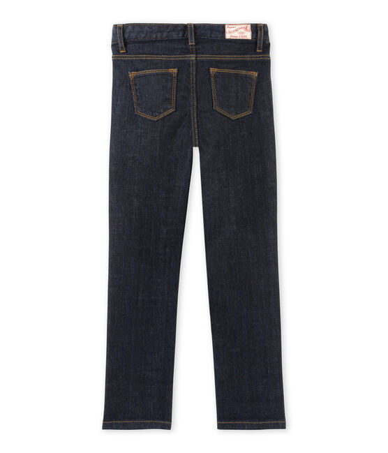 Girls' trousers in dark denim Jean blue