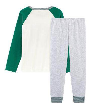 Boys' Pyjamas Poussiere grey / Multico white