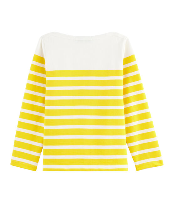 Children's Jersey Breton Top Marshmallow white / Shine yellow