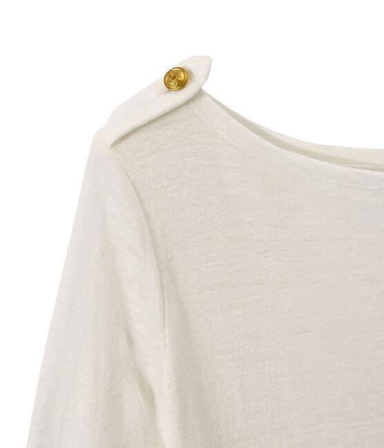 Women's linen tee Lait white