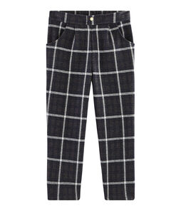 Girls' Checked Knit Trousers