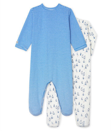 Baby Boys' Ribbed Sleepsuit - 2-Piece Set . set