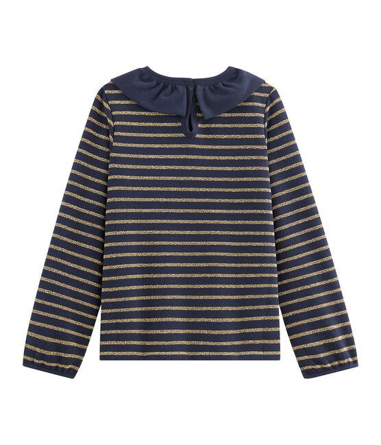 Girls' Jersey T-Shirt Smoking blue / Or yellow