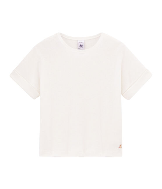 Girls' Short-sleeved T-shirt Marshmallow white