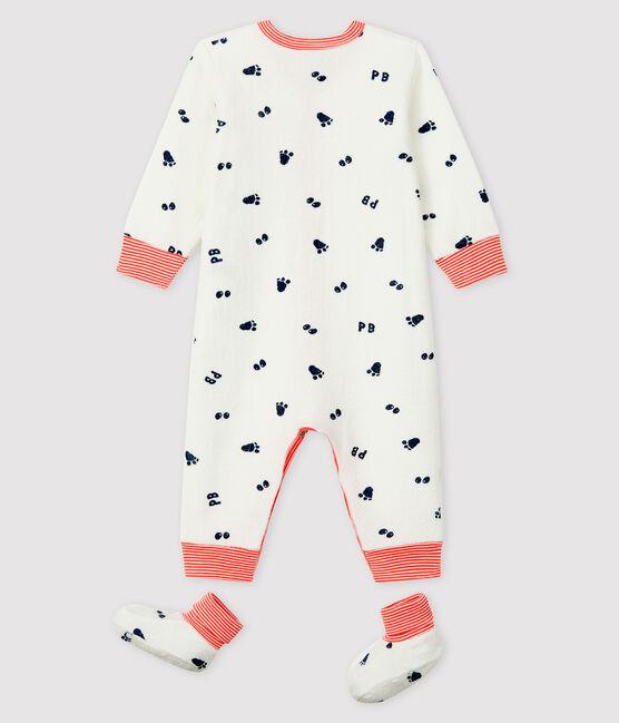 Babies' Terry Nightwear Set Marshmallow white / Medieval blue