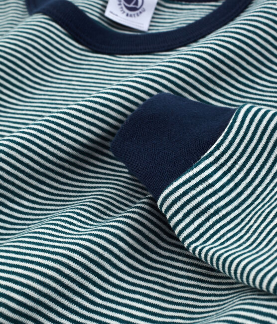 Boys' Pyjamas Pinede green / Marshmallow white