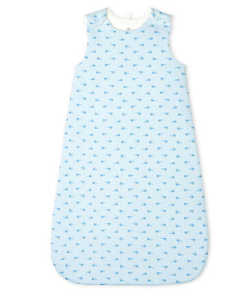 Babies' Rib Knit Sleeping Bag Fraicheur blue / Multico white