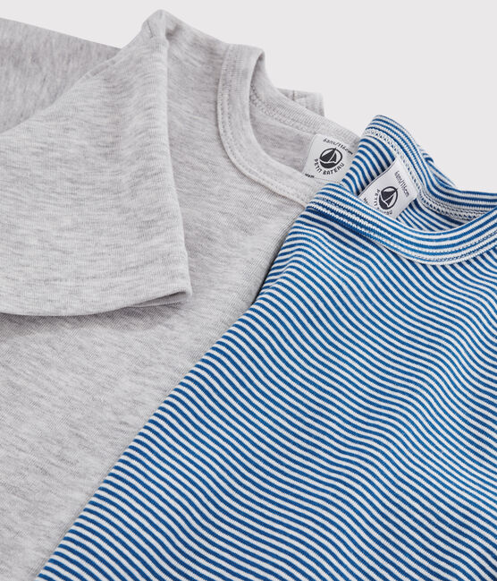 Boys' Pinstriped Short-sleeved T-Shirt - 2-Piece Set . set