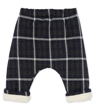 Baby Boys' Checked Sherpa Lined Trousers City black / Multico white