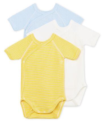 Baby Boys' Short-Sleeved Newborn Bodysuit - Set of 3
