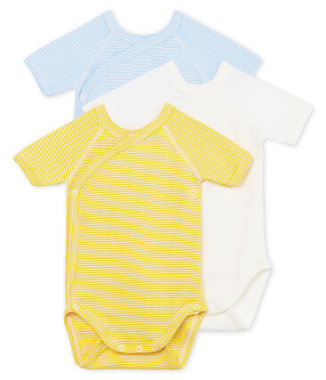 Baby Boys' Short-Sleeved Newborn Bodysuit - Set of 3