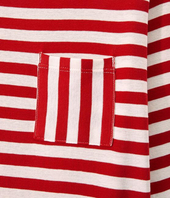 Women's long-sleeved heritage rib T-shirt Terkuit red / Marshmallow white