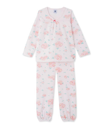 Girls' floral print velour pyjamas