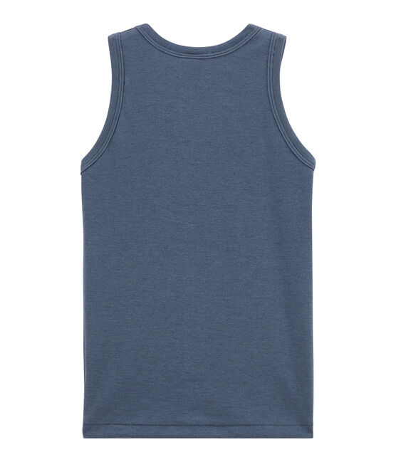 Little boy's vest top Turquin blue