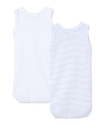 Pack of 2 baby boy sleeveless bodysuits