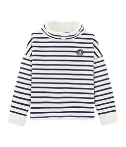 Boy's Sweatshirt Marshmallow white / Smoking blue