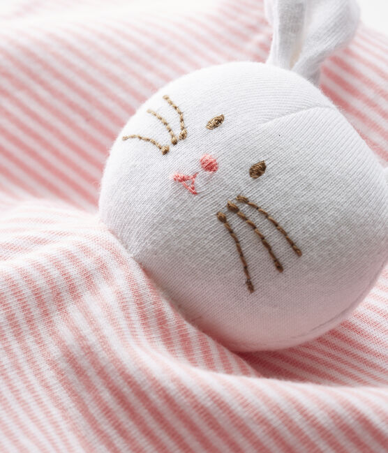 Babies' Cotton Bunny Comforter Charme pink / Marshmallow white
