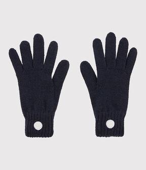 Unisex Knit Gloves Smoking blue