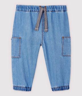 Baby Boys' Light Denim Trousers Denim clair blue